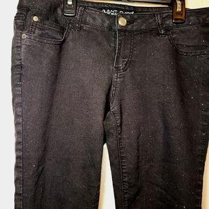 Silent Disco Black Glitter Skinny Jeans sz 9